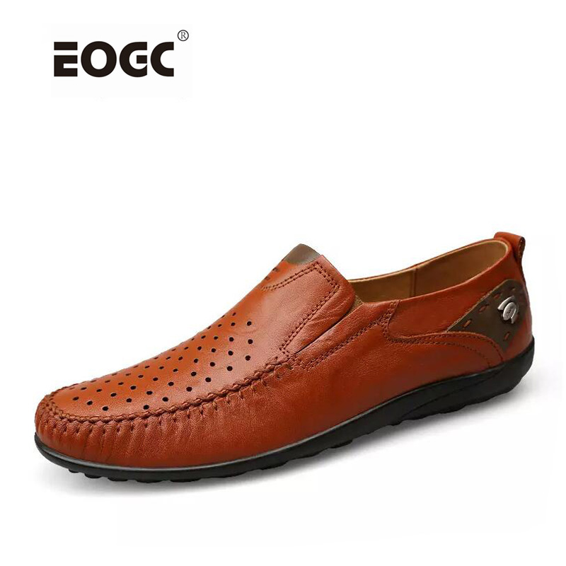 Genuine Leather Men Shoes Plus Size Men Flats Shoes Loafers,Fashion Slip On Moccasins,Handmade Driving Shoes Zapatos Hombre lozoga 2018 men leather shoes handmade moccasins genuine cow leather men loafers design slip on comfortable peas shoes men flats
