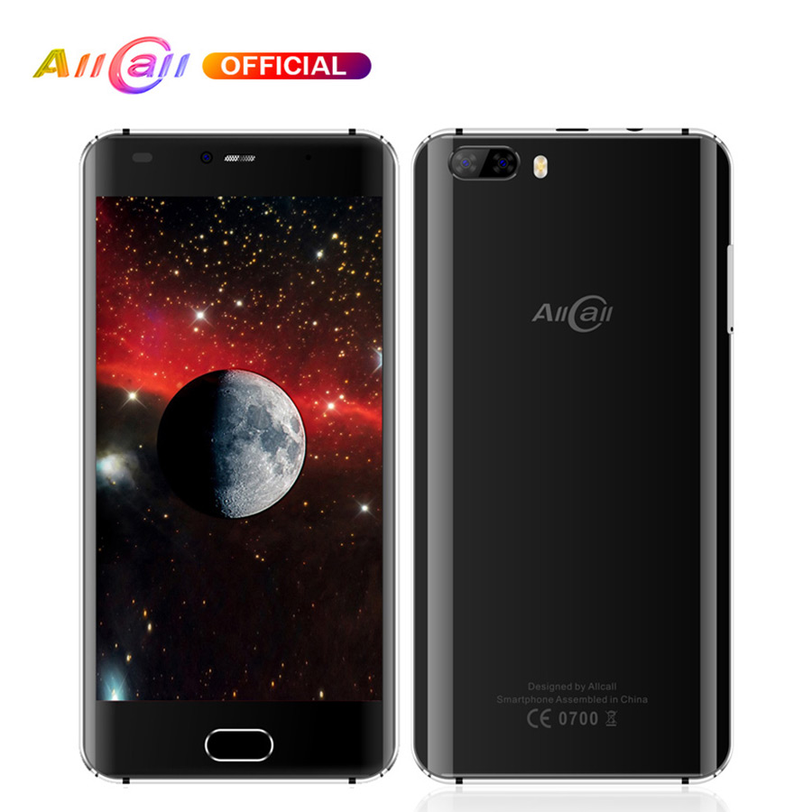 En stock! Allcall RIO double caméra arrière 3G 5.0 pouces IPS HD 1 GB RAM 16 GB ROM 8MP caméra MTK6580A Quad-Core Android 7.0 Smartphone