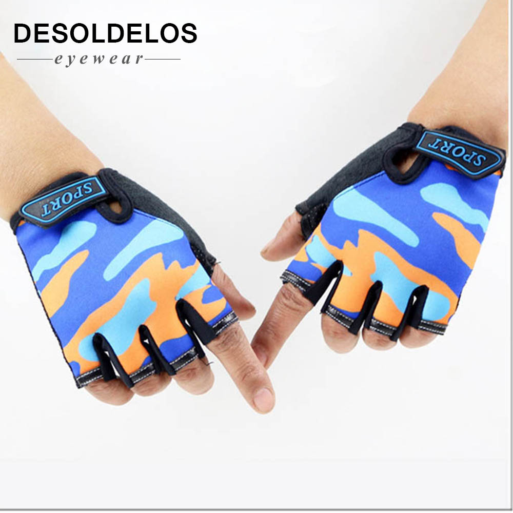 Fingerless Kids Gloves Non-Slip Ultrathin Children Half Finger Breathable Gloves For Boys Girls Luvas De Inverno