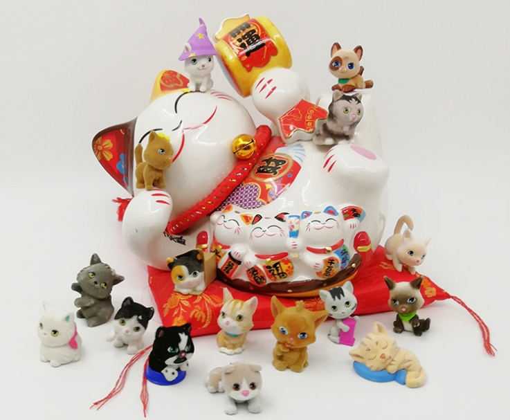 Hospitable 7pcs 4-5cm Kawaii Cute Lps Cat Dog Flocking Plush Action Figure Doll Can Use In Sylvanian Families Girls Play House Toy D10