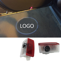 No Drill LED Car Door Courtesy Ghost Shadow Logo Lights For Mercedes Benz A B C