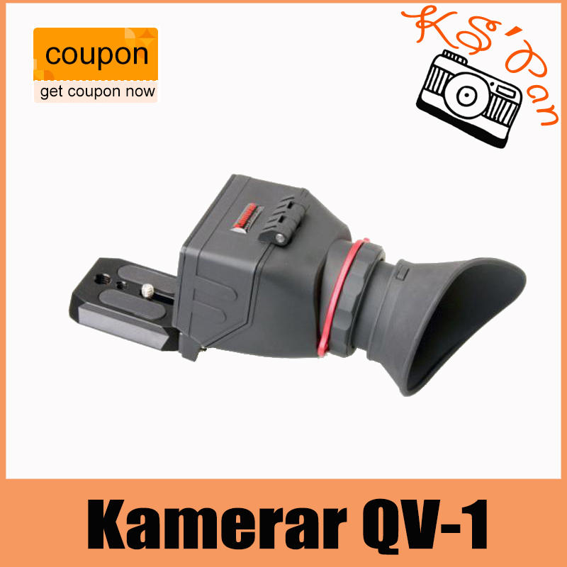 KAMERAR QV-1 LCD Viewfinder For CANON 5D MKIII 6D 7D 60D kamerar qv 1m lcd viewfinder with quick release plate base for cameras slr camera
