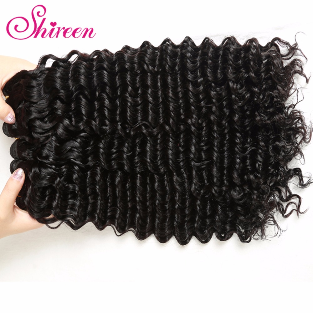 4Bundles Deal Malaysian Deep Curly Hair 100 Remy Human Hair Weave wavy Bundles Deep Wave Human Hair Extensions cheveux humain in Hair Weaves from Hair Extensions Wigs