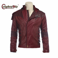Star Lord Cosplay Jacket Short Coat Men Halloween costume Guardians of the Galaxy 2 Star Lord cosplay costume leather Jacket