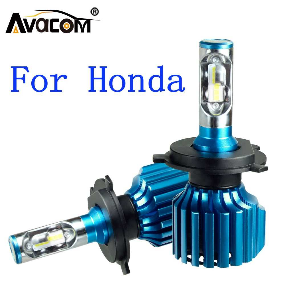 Avacom 2 Pcs LED Car Headlight Bulbs 12V CSP 6500K 12000Lm 72W Car DRL Fog Light For Honda Civic/CRV/Jazz/Accord/Insight/Fit