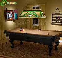 American Wind Gedifuni Pool Table Lamps Glass Chandelier Fashion Classic Rectangular Restaurant Villa Lighting