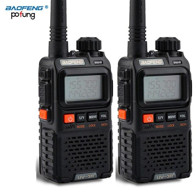 2 PCS Baofeng UV 3R 플러스 미니 워키 토키 CB 햄 VHF UHF 라디오 방송국 트랜시버 Boafeng Amador Communicator Woki Toki PTT
