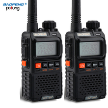 2 PCS Baofeng UV 3R בתוספת מיני מכשיר קשר CB חזיר VHF UHF רדיו תחנת משדר Boafeng Amador Communicator Wokï טוקי PTT