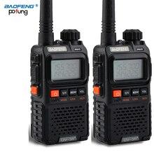 2 uds $TERM impacto Baofeng UV 3R Plus Mini Walkie Talkie CB Ham VHF UHF estación de Radio transceptor Boafeng Amador comunicador Woki Toki PTT