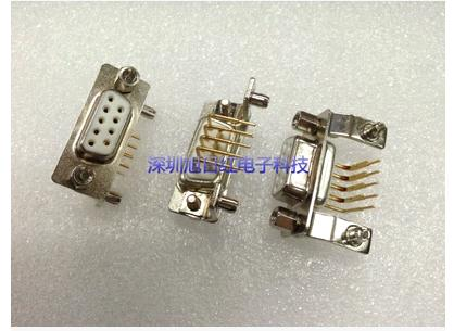 DB9 PIN HDR9P female head welding plate 90 - degree bend elbow the needle DR9P military connector laser head vnp1713 a db vtv110