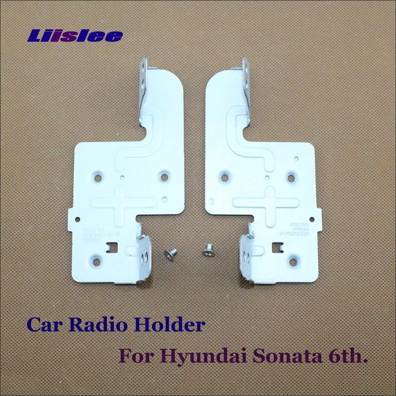 Support autoradio pour Hyundai Sonata I45 (YF) 6th 2009 ~ 2014 lecteur CD DVD Support de tête en métal Support une paire avec vis