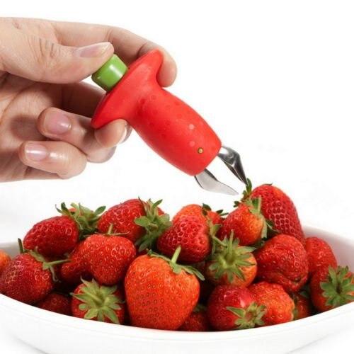 Novedad Fresa Huller Parte Superior de La Hoja Removedor de Frutas Vegetales Her