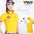 PGM подлинные поло гольф одежда для женщин гольф футболки quick dry женские с коротким рукавом Гольф футболки 2015
