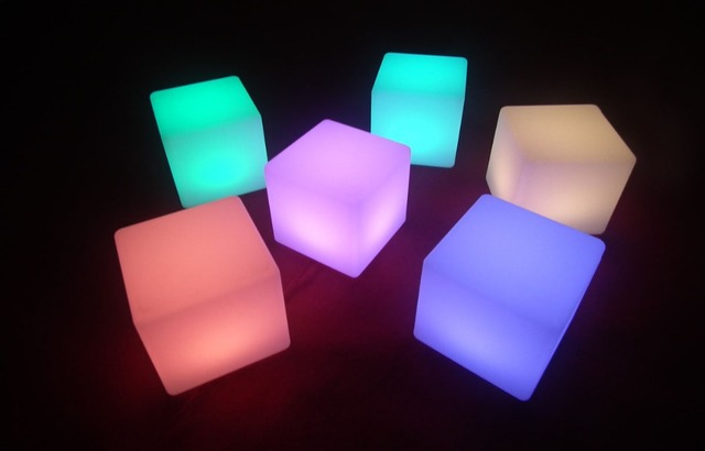 Bon 15cm Night Club Outdoor Decoration Party LED Cube/LED Chair/ball Furniture  Led Outdoor