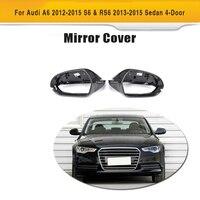 Углеродное волокно боковые задние зеркало заднего вида крышки для Ауди S6 RS6 2013 2014 2015 2016 Полная замена для укладки волос