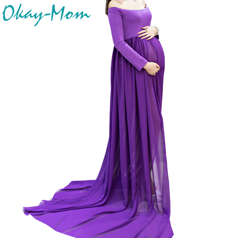 Hot Sale Maternity Photography Props Pregnancy Clothes Maxi Maternity Photo Shoot Dress Long Chiffon Dresses For Pregnant Woman hot sale great deal maternity binding body shaping postpartum staylace maternity supplies abdomen waist belt pregnant panties n