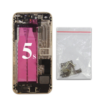 Back Housing For IPhone 5s High Quality Battery Cover Back Cover Frame Chassis IMEi Flex Cable