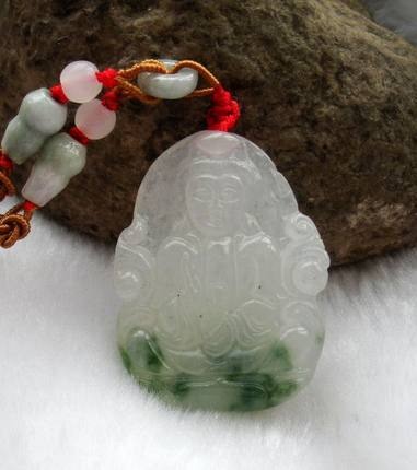 ФОТО Long Yi flowers floating dripping Guanyin necklace jade jewelry gift accessories 8000020