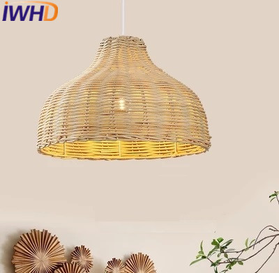 IWHD Bamboo Pendant Lights Modern Brief Restaurant Iron Pendant Lamp Home Lighting Fixtures e27 220v For decor Lamparas 2016 new luminaire lamparas pendant lights modern fashion crystal lamp restaurant brief decorative lighting pendant lamps 8869