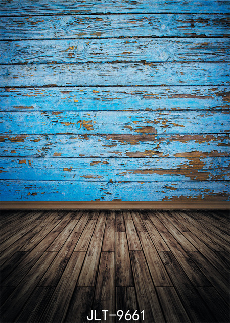 Vinyl Cloth 3d Photography Backdrops Wooden Floor Blue Old Wooden Wall Photo Background Customize for Photo Studio Photophone