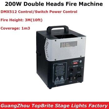 200 Вт DMX512 огненная машина сценическое освещение эффект оборудования профессиональные Двойные головки пожарная машина идеально подходит дл...