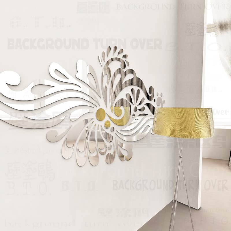 Creative Bohemia Ethnic TOTEM Decorative Acrylic Mirror Wall Stickers Home Living Room Bedroom Decor Room Door decoration R228