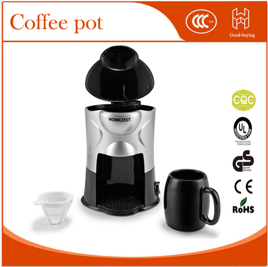 Single Cup Coffee Maker Office Use : one cup Home use Hourglass mini coffee pot office coffee maker-in Coffee Makers from Home ...