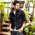 SIMWOOD Brand Clothing New Autumn Winter denim jacket men fashion jeans jacket casual outerwear  NJ6523