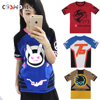 Coshome OW D VA T Shirt Rabbit Cosplay Dva T Shirts Anime Costumes Tops Men Women