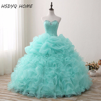 Mint Green Quinceanera Dresses Sweetheart Ball Gown Vestidos De 15 Anos Real Photos Prom Gowns Amazing Birthday Dresses 2017