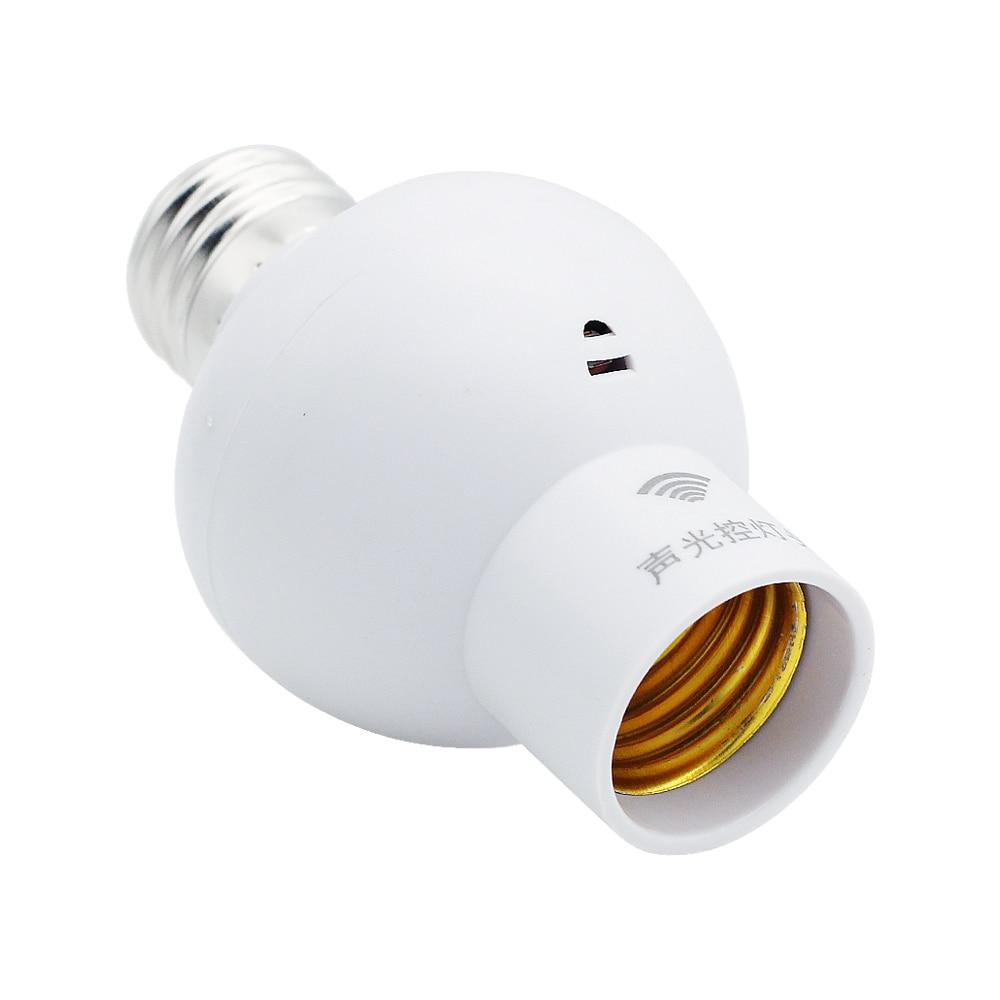 Sound Light Sensor Control Lamp Holder Durable E27 Screw Lamp Bases Cap Socket Switch For Corridor Stairs Indoor Lighting Bulb