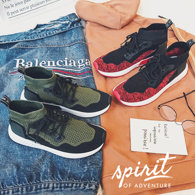 2018 Spring New Wild Mens Fashion Low Shoes Flying Woven Shoes Casual Shoes Trend Strap Mens Socks Shoes
