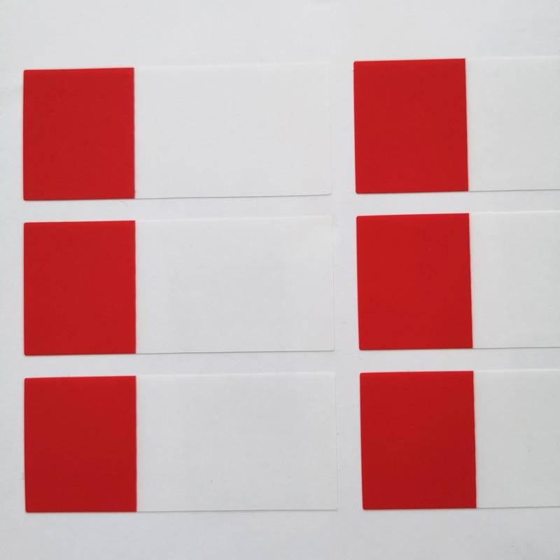 270 шт./лот 58x25 мм Рука обмотки сети наклейки на сетевой кабель, водонепроницаемый и прочный для когда-либо использования, пункт № HT05 - Цвет: red
