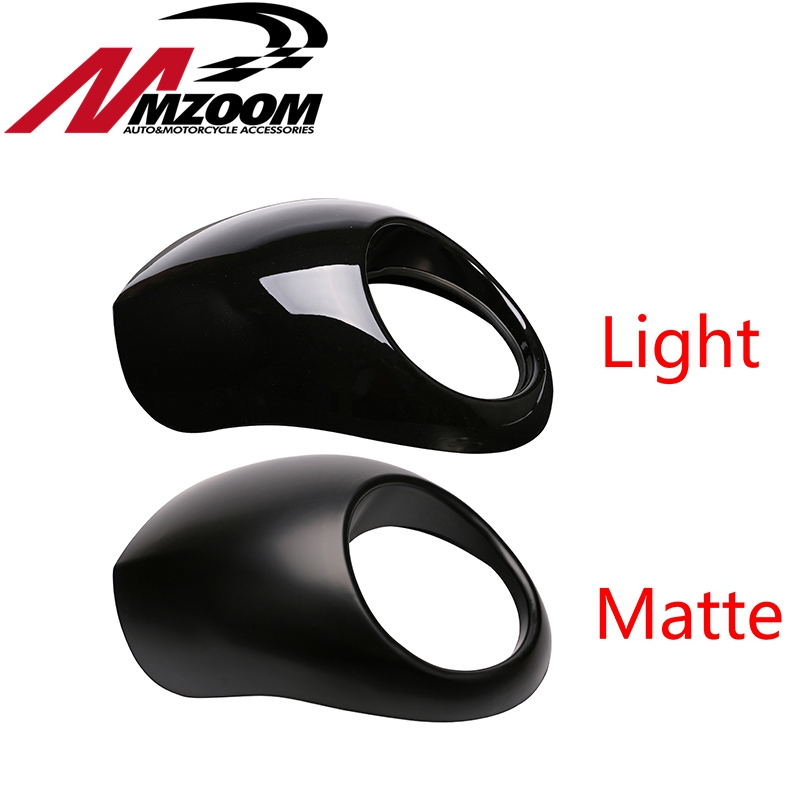 Free shipping Black Headlight Plastic Front Visor Fairing Cool Mask Bezel For 883 XL1200 Dyna Sportster FX Motorcycle for dyna sportster fx xl 39mm cafe racer grille style prison cowl headlight mask front fairing flyscreen fly screen visor