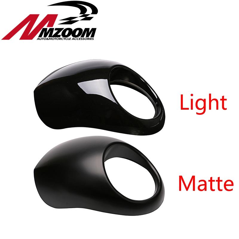 Free shipping Black Headlight Plastic Front Visor Fairing Cool Mask Bezel