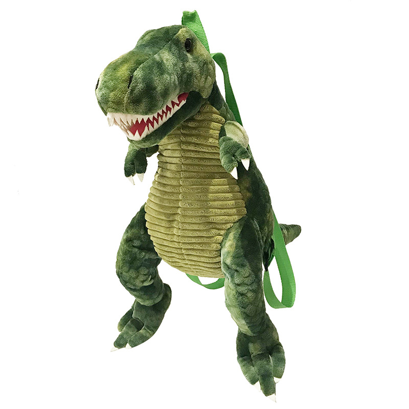 Creative 3D Dinosaur Backpack Cute Animal Cartoon Plush Backpack Dinosaurs Bag For Children Kids Gifts