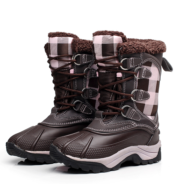 New 2016 Children Shoes Outdoor Mother Girls Winter Snow Boots Skid Resistance Waterproof Fashion Women Boots
