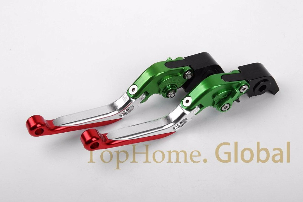 Foldable Extendable Brake Clutch Levers For Aprilia RSV MILLE / R / Factory 2004-2008 CNC Green/Siver/Red 05 06 07 for aprilia rsv 1000 mille 2004 2007 cnc aluminum front