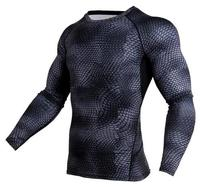 New 3D Printed T shirts Men Compression Shirt Thermal Long Sleeve T Shirt Mens Fitness Bodybuilding Skin Tight Quick Dry 165