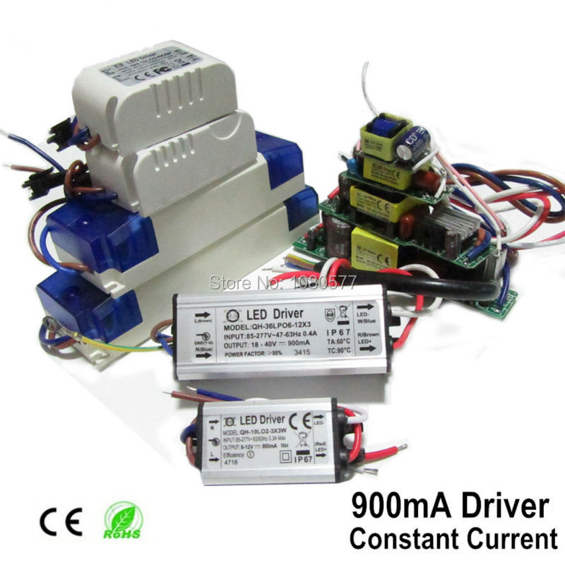 2pcs 900mA 1000mA LED Power Driver 6W 9W 10W 20W 30W 40W 50W 60W Ceiling Light Lamp Constant Current Lighting Transformer