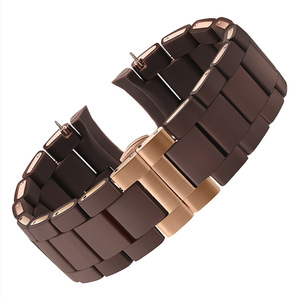 Image 5 - 20mm 23mm Steel Rubber Silicone Watch Band Apply to Armani AR5905 AR5906 AR5919 AR5920 Watches Wrist Strap Watchband Rosegold