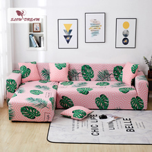 Slowdream Corner Sofa Cover Cape On The Sofa Home Seat Stretch Elastic Band Furniture Removable Couch Sofa Assemble Slipcover slowdream leaf anti dirty sofa cover decor home seat nordic cape on the sofa stretch elastic couch cover removable slipcover
