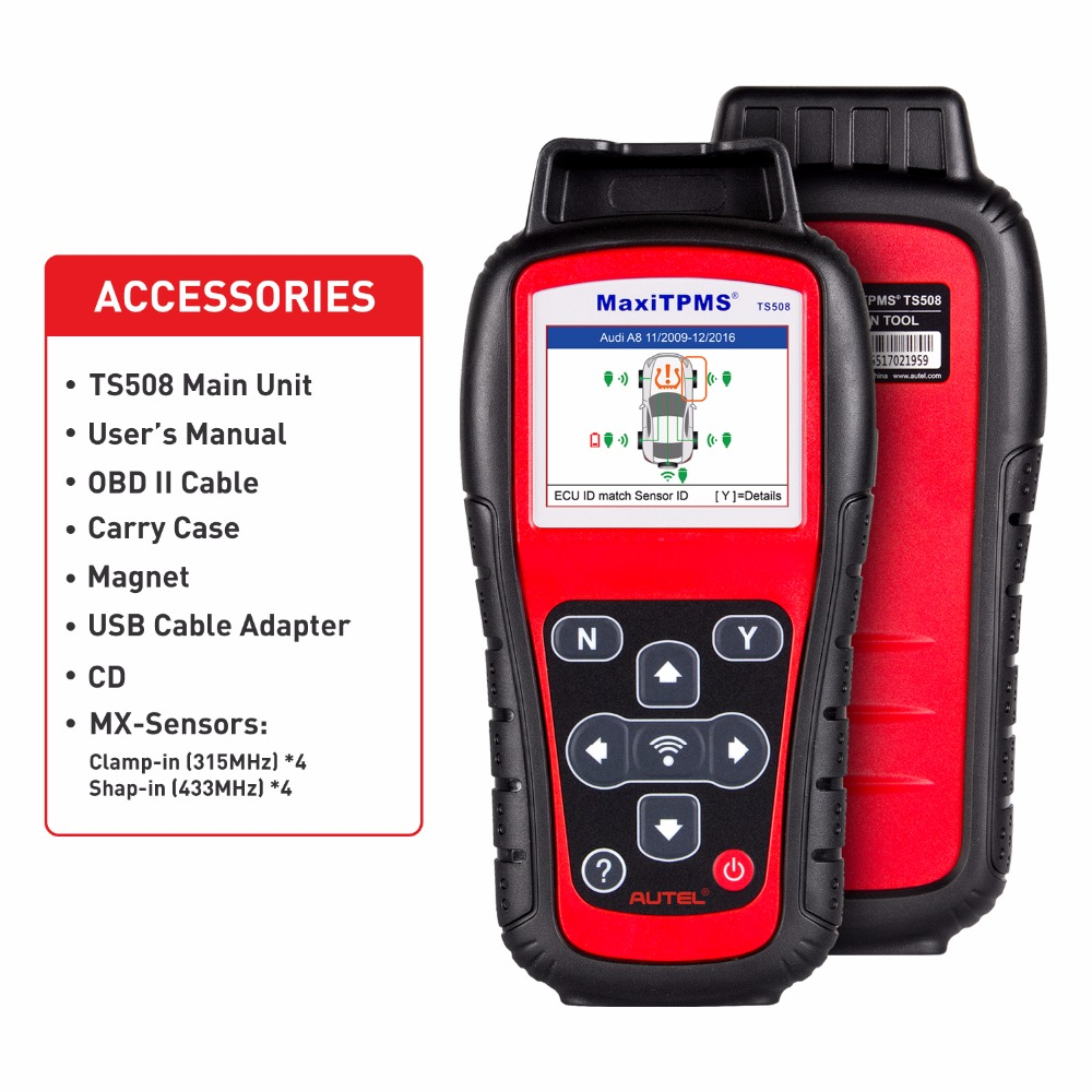 Autel MaxiTPMS TS508 TPMS Diagnostic Tool, Check TPMS System Health Condition, Program MX-sensors and Conduct TPMS Relearn tpms