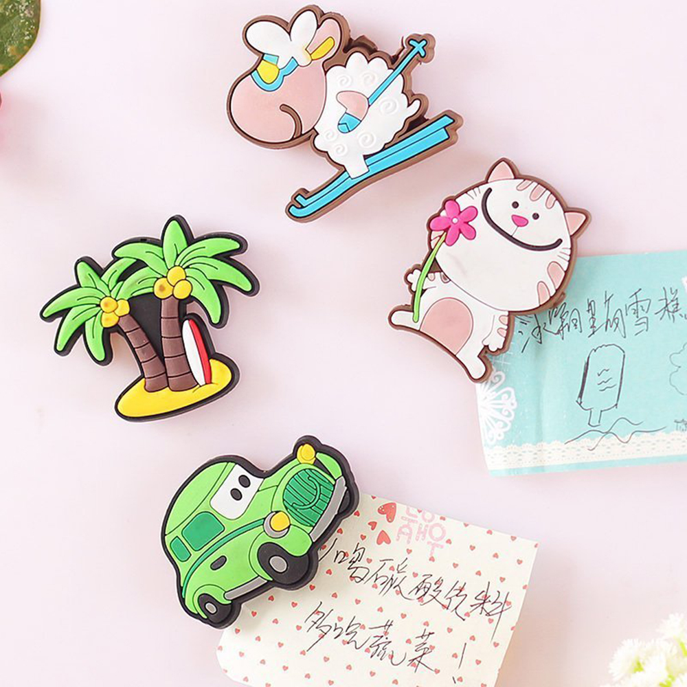Sticker Fridge Whiteboard Home-Decor Creative Silicone Child Cartoon Gift Animal 1/3pcs
