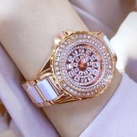 Ceramic Dress Women Watch reloj mujer Quartz Watch Luxury Rose Gold Ladies Wristwatch Women's Bracelet Watches Relogio Feminino