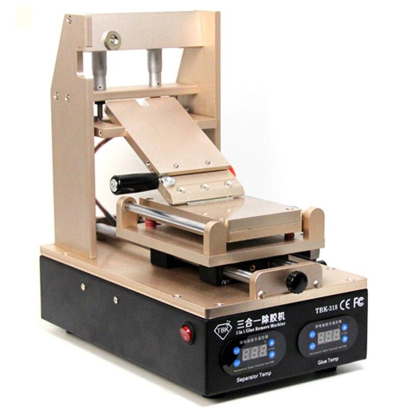 """NAUJAS """"TBK-318 3 in 1"""" vakuuminis skystųjų kristalų ekrano atskyriklis + pašildytuvas + OCA klijų polarizatoriaus valiklis. Mobiliojo telefono skystųjų kristalų ekrano atnaujinimo įrenginys"""