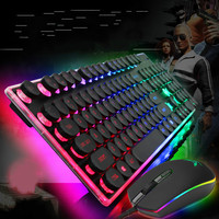 New Profession Wired Usb Keyboard Manipulator Rainbow Crystal Cap Keyboard for Gaming Lighting Effects for Desktop