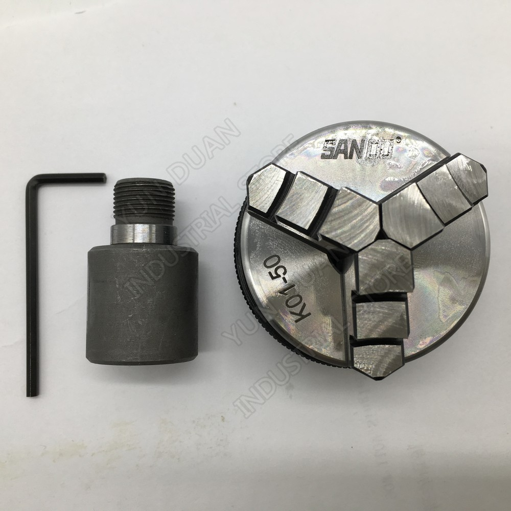 50mm 2 LATHE Chuck three Jaw Manual mini Self Centering Chuck Sanou K01 50 with Connecting