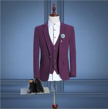 2018 Last Coat Mens Suit Wool Single Button Casual Men,Mens tuxedo with pants, Business Classic Wedding Suits terno trajes