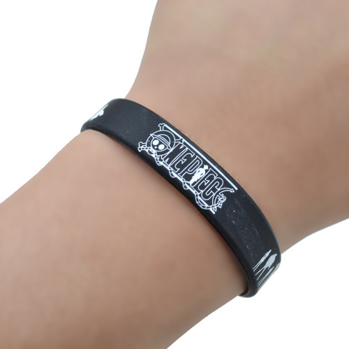 One Piece Silicone Rubber Bracelet Wristband